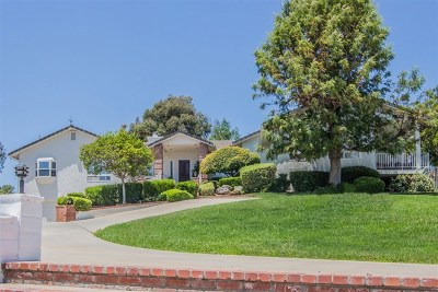 San Diego County Single Family Home For Sale: 3201 Lemora Ln