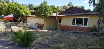 San Diego County Single Family Home For Sale: 8718 Los Coches Rd