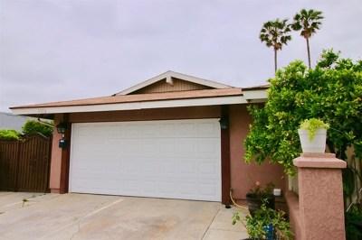 Chula Vista Single Family Home For Sale: 1572 Citrus Way