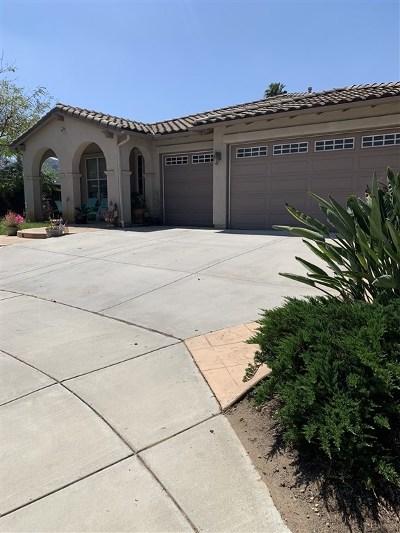 Escondido Single Family Home For Sale: 2308 Citron Place