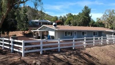 El Cajon Single Family Home For Sale: 13849 Camino Canada