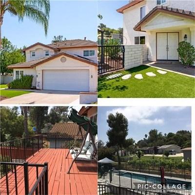 Escondido Single Family Home For Sale: 1101 Rachel Cir