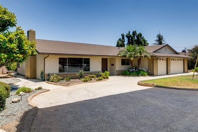 El Cajon Single Family Home For Sale: 479 Tyrone St.