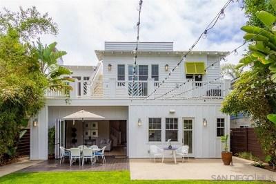 Coronado Single Family Home Active Under Contract: 120 I Avenue