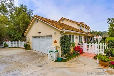Fallbrook Single Family Home For Sale: 2736 Secret Lake Ln