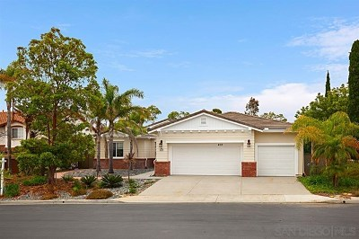 Encinitas Single Family Home For Sale: 435 Sandalwood Ct.