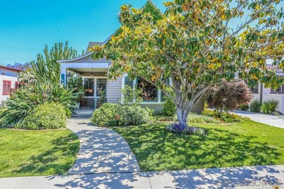 San Diego Single Family Home For Sale: 3461 Olive Street