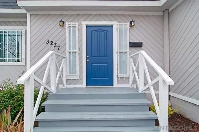 San Diego Single Family Home For Sale: 3237 Fairmount Ave.