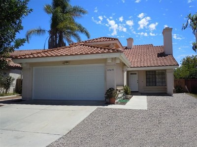 San Diego Single Family Home For Sale: 10691 Calston Way