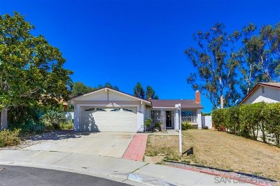 San Diego Single Family Home Active Under Contract: 7181 Dinovo St