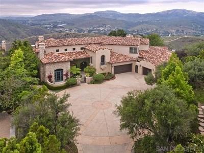 Rancho Santa Fe Single Family Home For Sale: 8044 Camino De Arriba