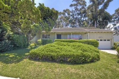 El Cajon Single Family Home For Sale: 683 Murray Drive