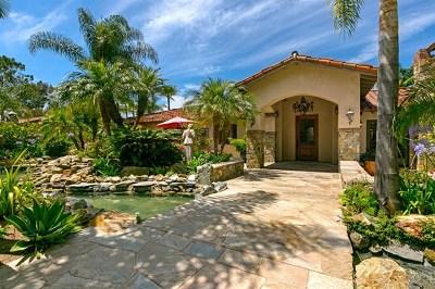 Rancho Santa Fe Single Family Home For Sale: 18351 Via De Las Flores