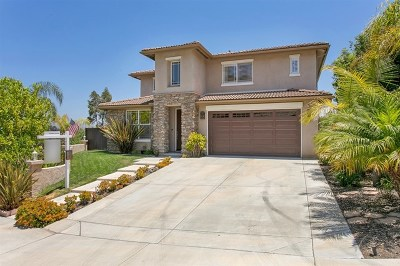 San Marcos Single Family Home For Sale: 693 Saddleback Way