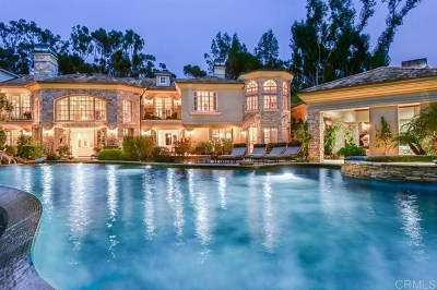 Rancho Santa Fe Single Family Home For Sale: 6397 Clubhouse Drive