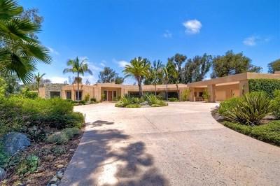 Rancho Santa Fe Single Family Home For Sale: 5720 San Elijo