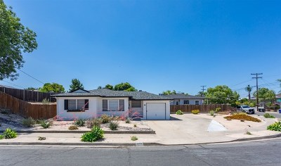 La Mesa Single Family Home For Sale: 8715 Pampa St