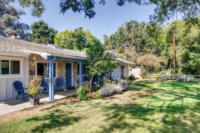 Fallbrook Single Family Home For Sale: 3245 Green Canyon Rd