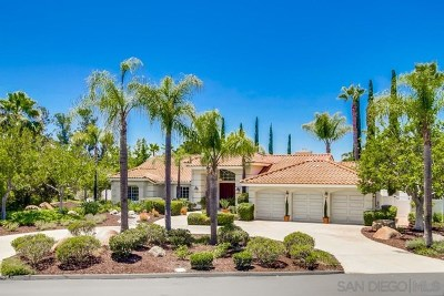 Poway Single Family Home For Sale: 16068 Country Day Rd