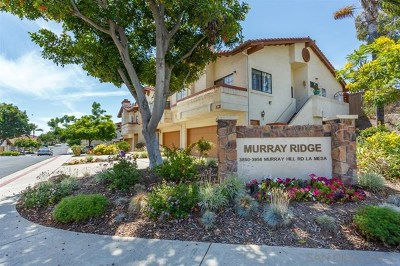 La Mesa Condo/Townhouse For Sale: 3906 Murray Hill Rd