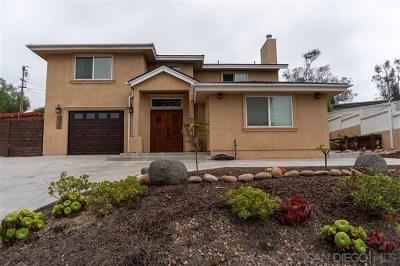 La Mesa Single Family Home For Sale: 5465 Arizona Ave