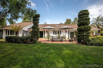 Rancho Santa Fe Single Family Home For Sale: 6055 Lago Lindo