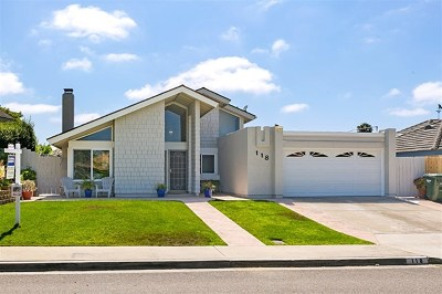 Encinitas Single Family Home For Sale: 118 Solace Ct