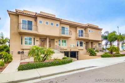 San Diego Condo/Townhouse For Sale: 1261 Evergreen St.