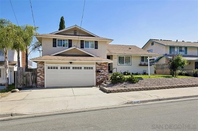 San Diego Single Family Home For Sale: 8487 Tommy Dr