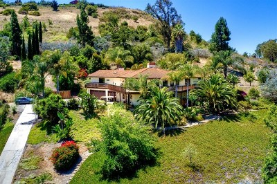 Fallbrook Single Family Home For Sale: 5020 Sleeping Indian Rd