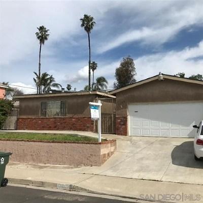 Chula Vista Single Family Home For Sale: 1329 Tobias Dr