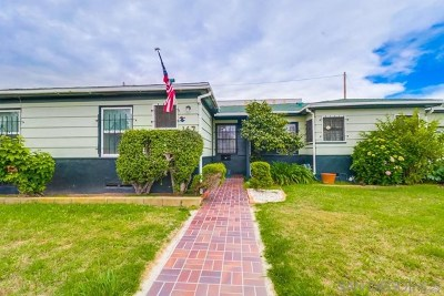 Imperial Beach Single Family Home For Sale: 167 Citrus Ave