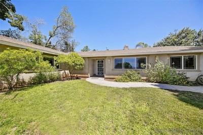 El Cajon Single Family Home For Sale: 14396 Rios Canyon Rd.