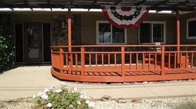 El Cajon Single Family Home For Sale: 2128 Crest Drive