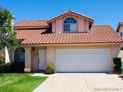 El Cajon Single Family Home For Sale: 878 Friendly Circle
