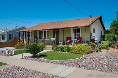 El Cajon Single Family Home For Sale: 944 Ellen Ln
