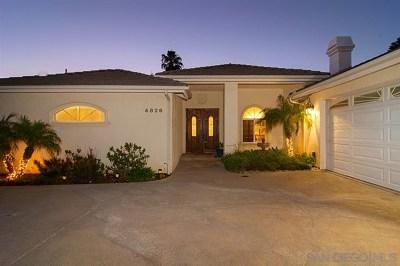 La Mesa Single Family Home For Sale: 4826 La Cruz Drive