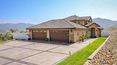 El Cajon Single Family Home For Sale: 1802 Vista De La Montana