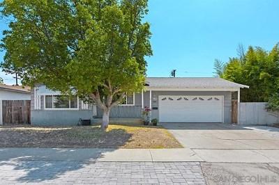 El Cajon Single Family Home For Sale: 753 Taft Ave