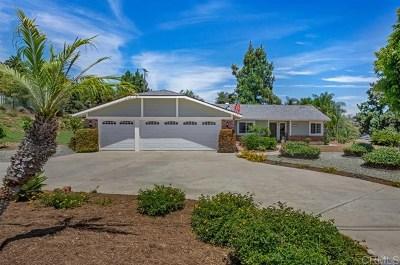 Fallbrook Single Family Home For Sale: 235 Deddie Terrace