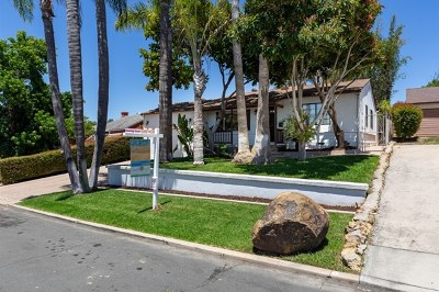 La Mesa Single Family Home For Sale: 4139 Blackton Dr