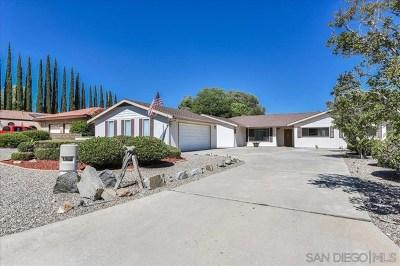 San Diego Country Estates Single Family Home For Sale: 16235 Spangler Peak Road