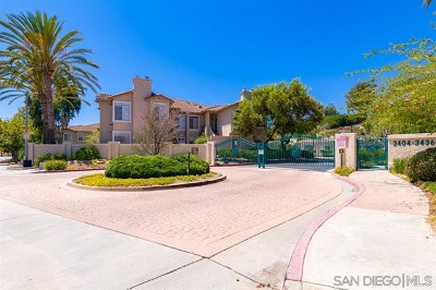 Oceanside Condo/Townhouse For Sale: 3420 Cameo Dr #34