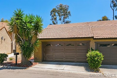 San Diego County Condo/Townhouse For Sale: 2043 Avenue Of The Trees