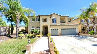 Temecula CA Single Family Home For Sale: $599,990