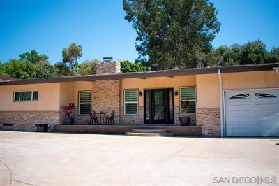 Bonita Single Family Home For Sale: 3845 Bonita Mesa Rd.