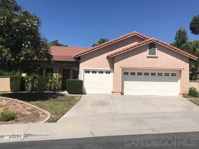 Canyon Lake, Lake Elsinore, Menifee, Murrieta, Temecula, Wildomar, Winchester Rental For Rent: 39950 Chalon Ct