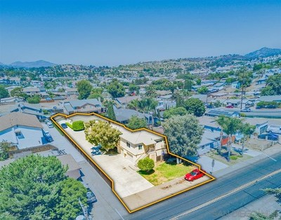 Lemon Grove Multi Family Home For Sale: 7168 Central Ave