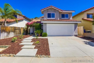 El Cajon Single Family Home For Sale: 11622 Avenida Marcella