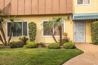 Chula Vista Condo/Townhouse For Sale: 1434 Hilltop Drive #3